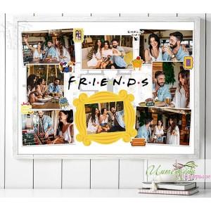 Колаж от снимки - Friends - Рамка
