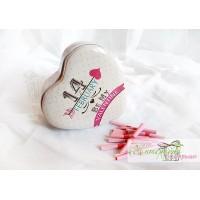 Метална кутийка с късметчета - Valentine