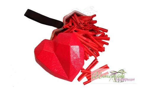 Метална кутийка с късметчета - Сърце