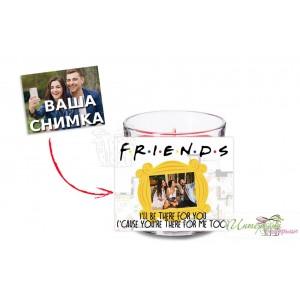 Свещ в чашка - Friends