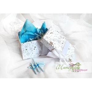 Кутийка с късметчета - Бяла панделка