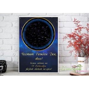 Колаж - Звездна карта - Рожден ден
