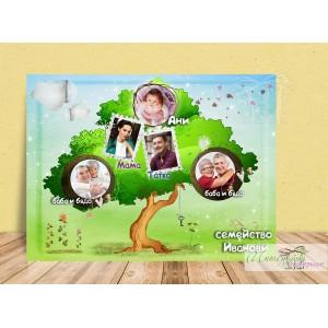 Колаж от снимки - Приказно родословно дърво