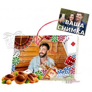 Бонбони със снимка - Покер - Карти