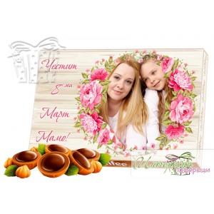 Бонбони със снимка - Осми Март - Цветя