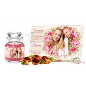 Пакет подарък - Осми Март - Цветя