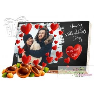 Кутия бонбони - Любов - Черно и червено