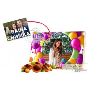 Кутия бонбони - Рожден ден - Цветно