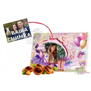 Кутия бонбони - Рожден ден - Свещичка