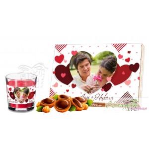 Романтичен пакет - Сърца - Бяло
