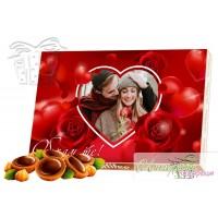 Кутия бонбони - Сърца и рози