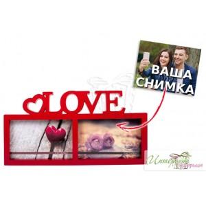 Рамка за 2 снимки - Love
