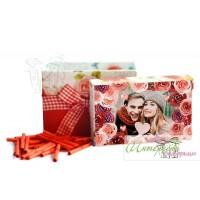 Кутийка с късметчета и снимка - Красиви цветя