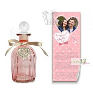 Писмо в бутилка с ваша снимка - Розово