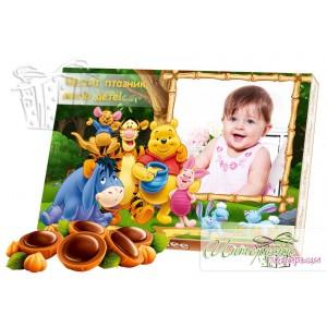 Кутия бонбони със снимка - Мечо Пух и приятели