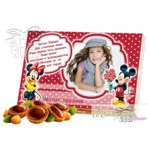 Кутия бонбони със снимка - Мики Маус