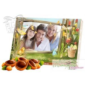 Кутия бонбони със снимка - Великден е тук