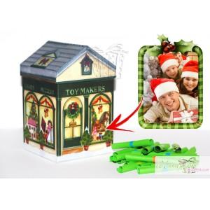 Коледна кутийка с късметчета - Къщичка