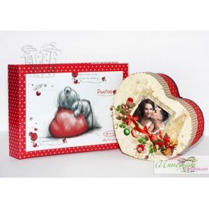 Коледна кутийка с късметчета - Сърчице + албумче