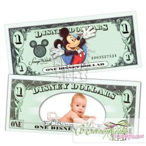 Банкнота с ваша снимка - 1 долар Дисни