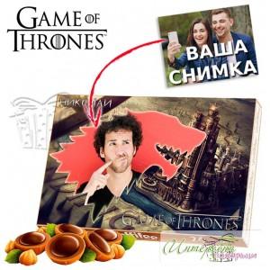 Кутия бонбони със снимка - GOT - House Stark