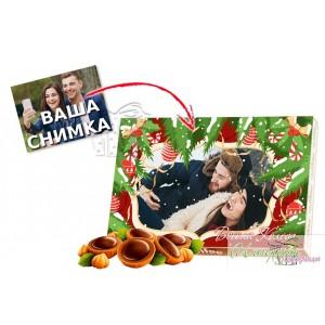 Кутия бонбони със снимка - Весела Коледа