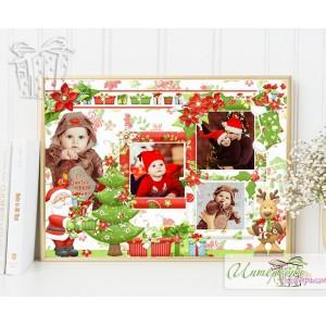 Коледен колаж със снимки - Коледни подаръци