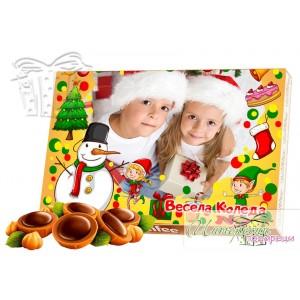 Кутия бонбони със снимка - Коледа - Елфи