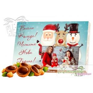 Кутия бонбони със снимка - Коледа - Рудолф