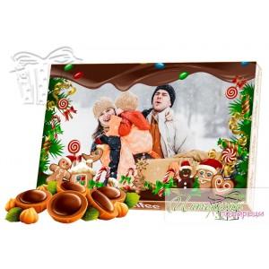 Кутия бонбони със снимка - Захарни бисквитки