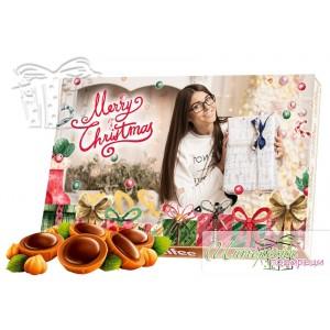 Кутия бонбони със снимка - Коледа - Подаръци