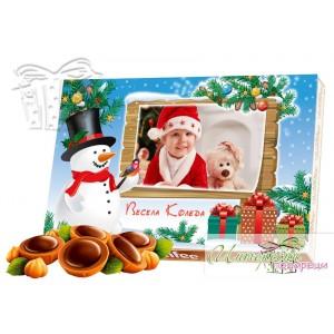 Кутия бонбони със снимка - Коледа - Табела