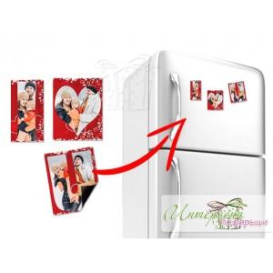 Магнитен надпис за хладилник - I love you