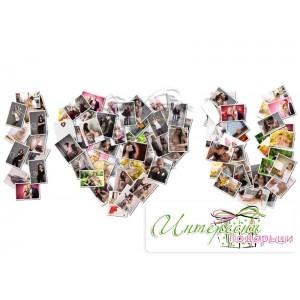 Фото-колаж - Collage Надпис I LOVE YOU