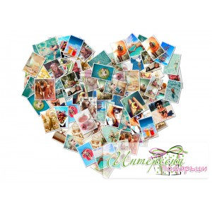 Фото-колаж - Collage Сърце