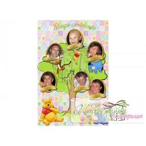 Фото-колаж - Родословно дърво - Мечо Пух