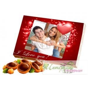 Кутия бонбони с Ваша снимка - I love you